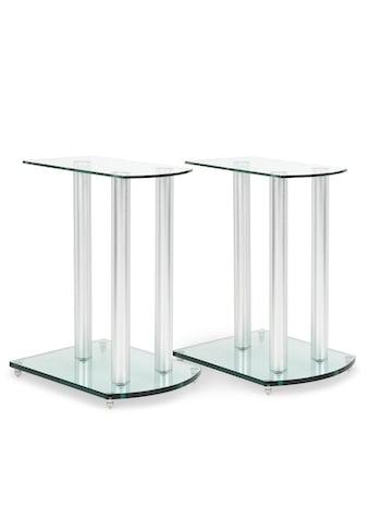 Auna Lautsprecherständer-Paar Glas Aluminium <10kg belastbar kaufen