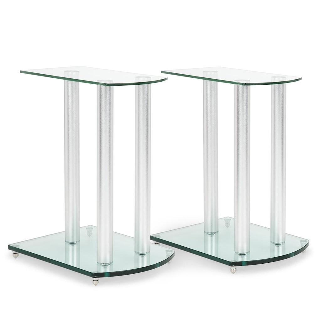 Auna Lautsprecherständer-Paar Glas Aluminium <10kg belastbar
