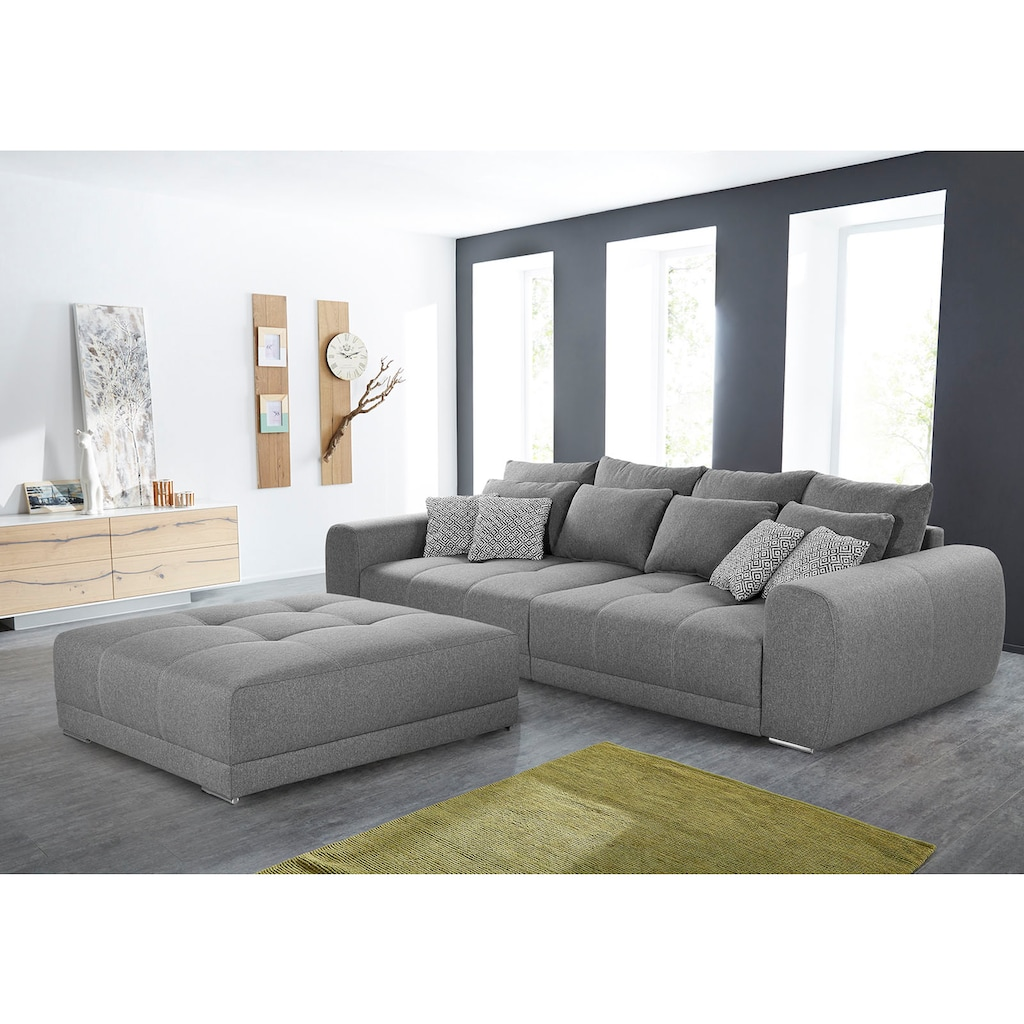 Jockenhöfer Gruppe Big-Sofa, inklusive loser Rücken- und Zierkissen, frei im Raum stellbar