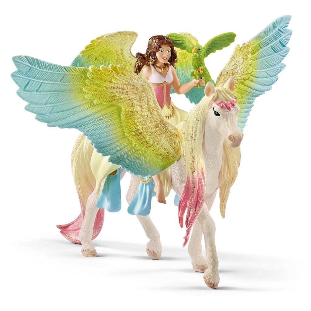 Schleich® Spielfigur »bayala, Surah mit Glitzer-Pegasus (70566)«