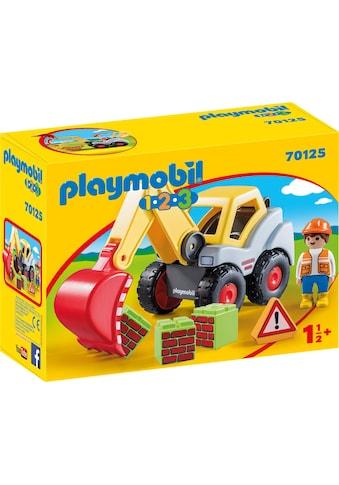 "Playmobil® Konstruktions - Spielset ""Schaufelbagger (70125), Playmobil 123"", Kunststoff kaufen"