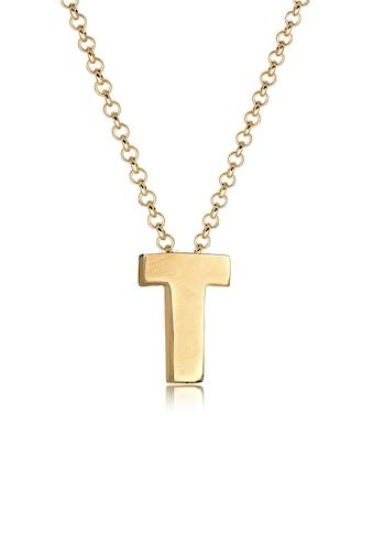 Elli Kette mit Anhänger »Buchstabe T Initialen Trend Minimal 925 Silber« kaufen