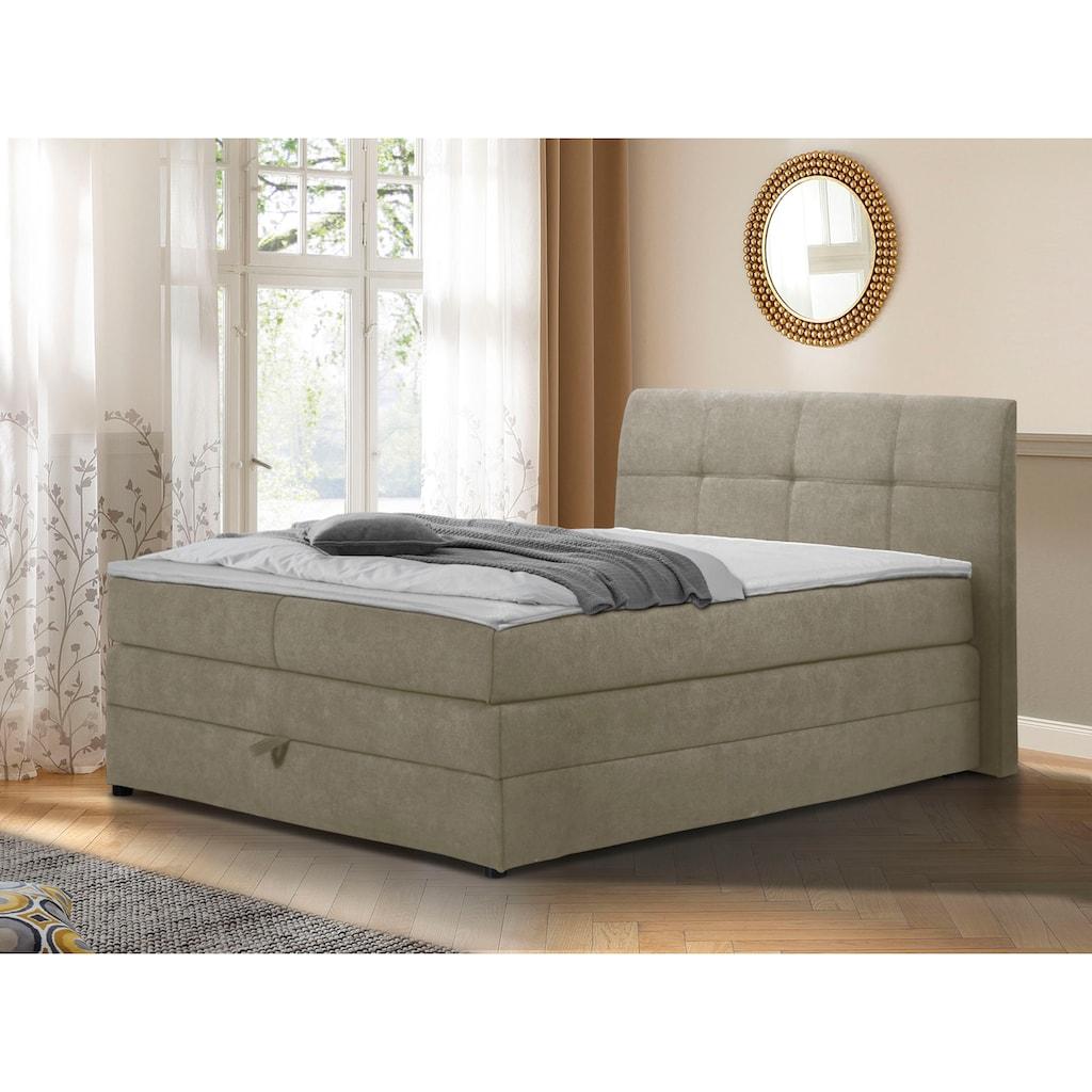 DELAVITA Boxspringbett »Finja«, (4 St.), besonders komfortable Liegehöhe, mit praktischem Bettkasten