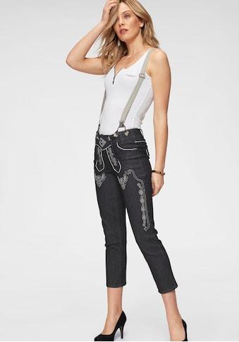Arizona Trachtenjeans »Bavaria«, 7/8 Jeans mit abnehmbaren Hosenträgern kaufen