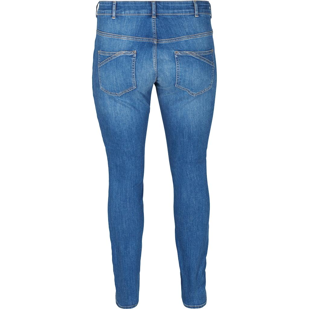 Zizzi Slim-fit-Jeans, mit normaler Leibhöhe