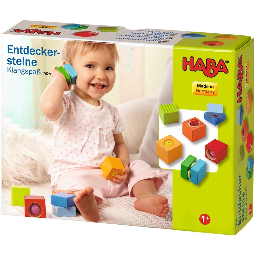 Haba Spielbausteine »Entdeckersteine Klangspaß«, (6 St.), mit Soundeffekt, Made in Germany