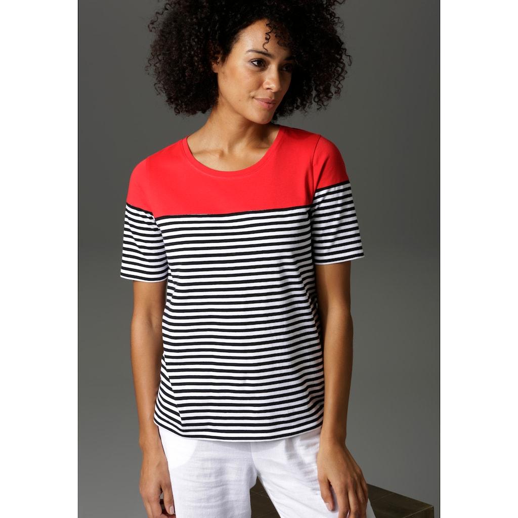 Aniston CASUAL T-Shirt, im Marine-Look