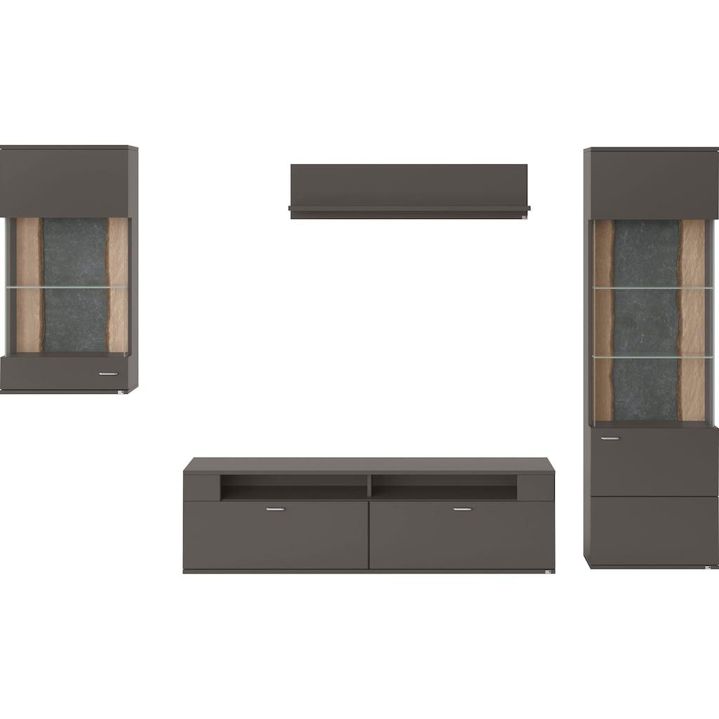 set one by Musterring Wohnwand »TACOMA«, (Set, 4 St.), Typ 54, mit Hängevitrine