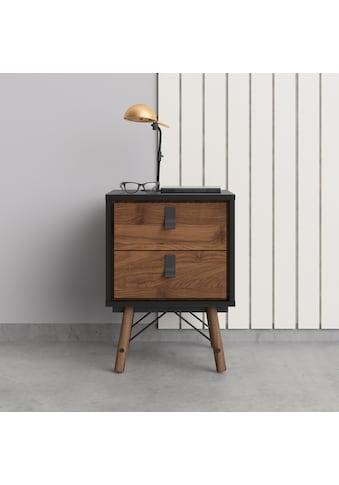 Home affaire Nachttisch »RY«, Nachttisch mit 2 Schubladen, Vollholzbeine, Höhe 60 cm kaufen