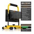 Brandson Akku LED Baustrahler 20W für Innen & Außen »Baulampe mit Standgestell & Tragegriff«