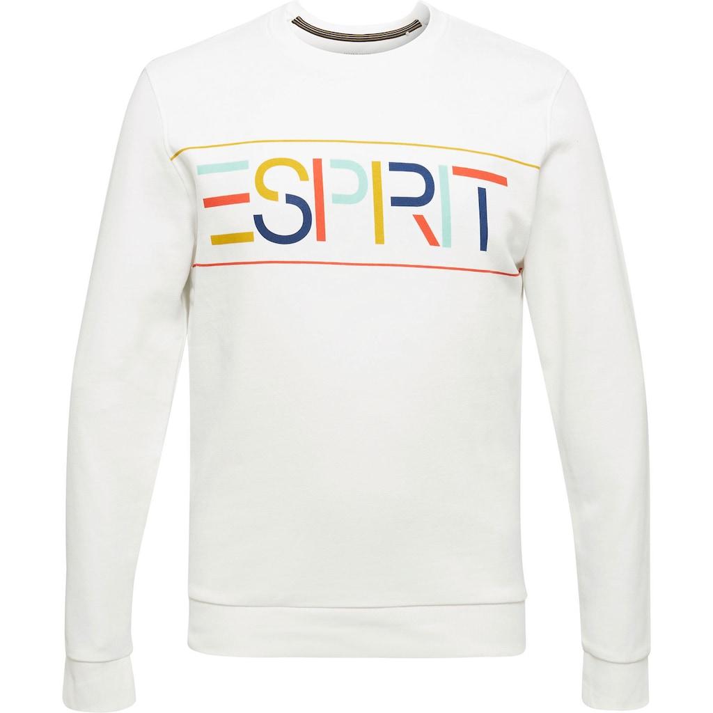Esprit Sweatshirt, mit großem Logofrontprint