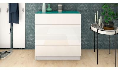 borchardt Möbel Kommode »Vaasa«, Breite 76 cm, Glasoberboden kaufen
