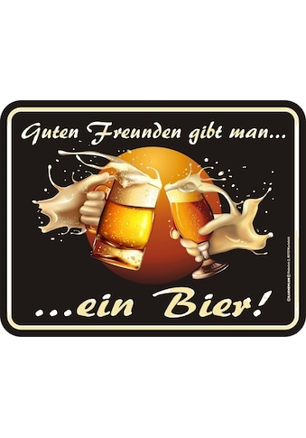 Rahmenlos Blechschild für den Biertrinker kaufen
