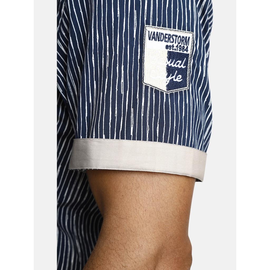 Jan Vanderstorm Kurzarmhemd »BODIL«, mit unregelmäßigen Streifen