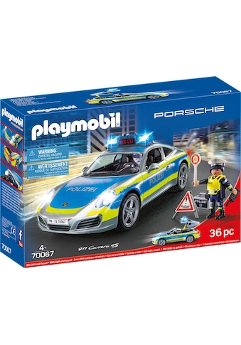 "Playmobil® Konstruktions - Spielset ""Porsche 911 Carrera 4S Polizei (70067), City Action"", Kunststoff kaufen"