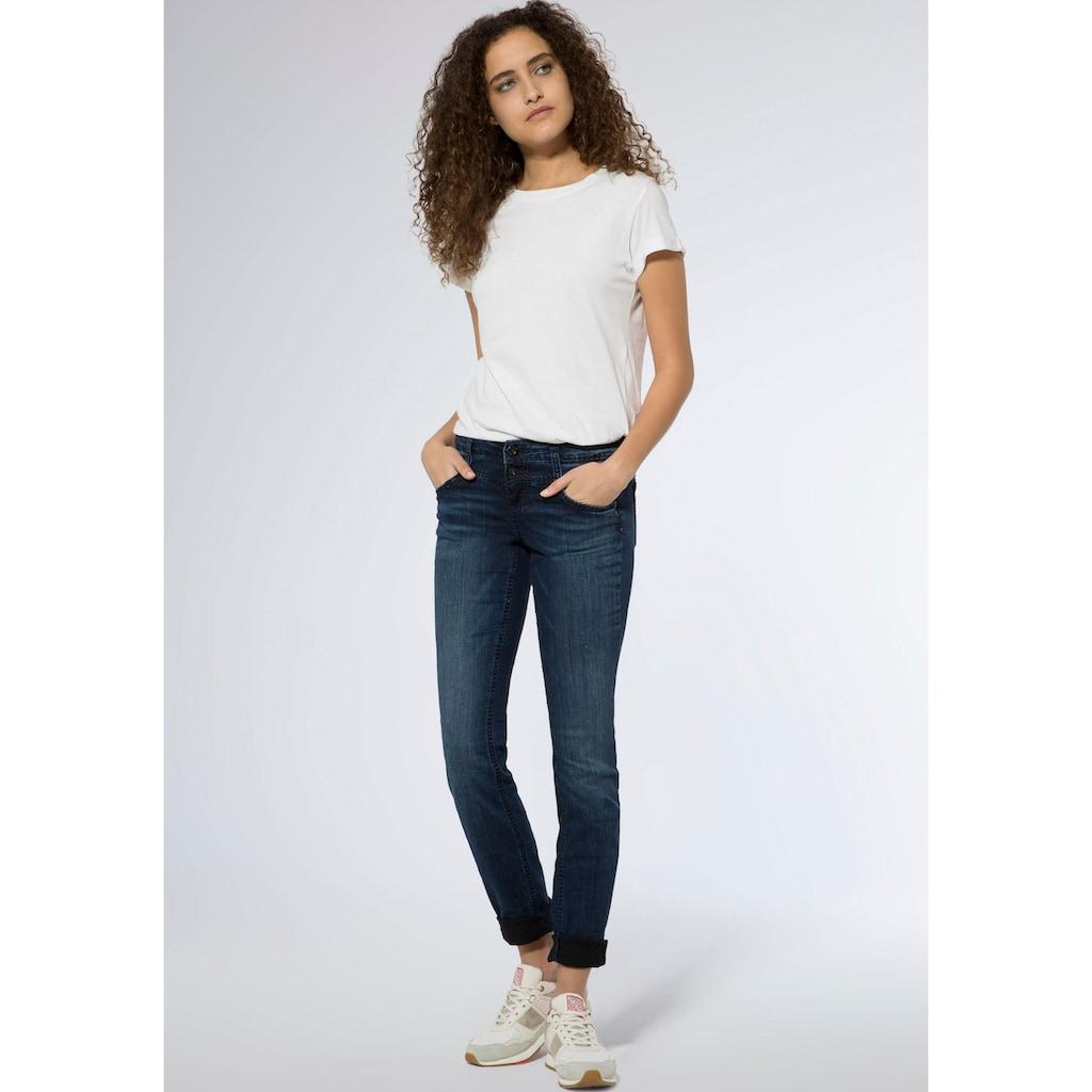 SOCCX Slim-fit-Jeans »KA:RA«, mit Doppelknopf am Bund