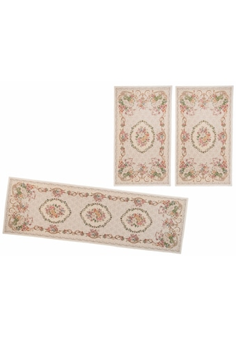 THEKO Bettumrandung »Flomi Floral«, Bettvorleger, Läufer-Set für das Schlafzimmer, gewebt, florales Design kaufen