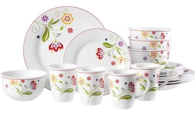 Ritzenhoff & Breker Kombiservice »Shanti Maha«, (Set, 16 tlg.), Paisley-Blüten-Dekor kaufen