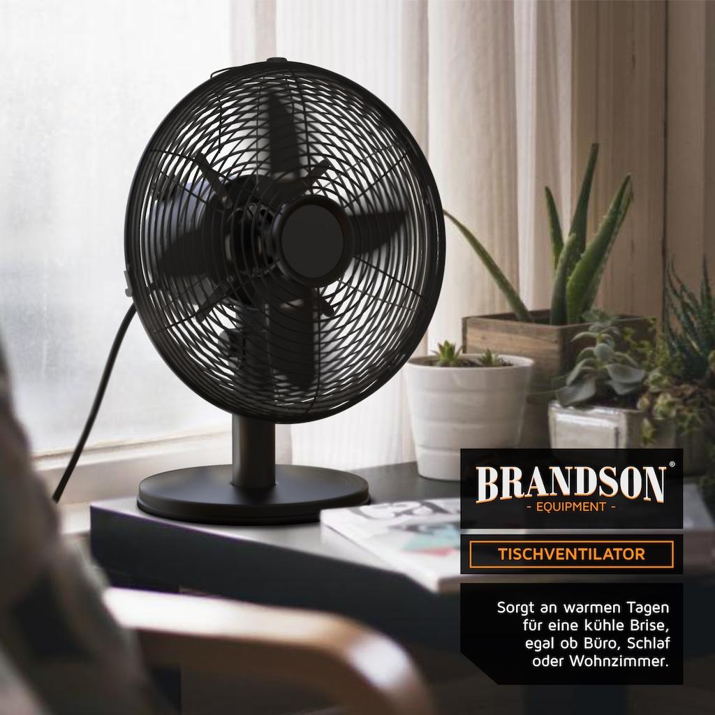 Brandson Tischventilator »Tisch Lüfter 28cm Ø«, mit 3 Geschwindigkeitsstufen & Oszillation