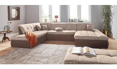 DOMO collection Wohnlandschaft, XXL, wahlweise mit Bettfunktion und Armteilverstellung, frei im Raum stellbar kaufen