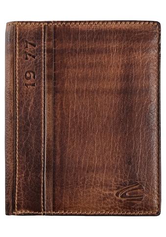 camel active Geldbörse »Melbourne, High form wallet«, aus Leder in Used Optik kaufen