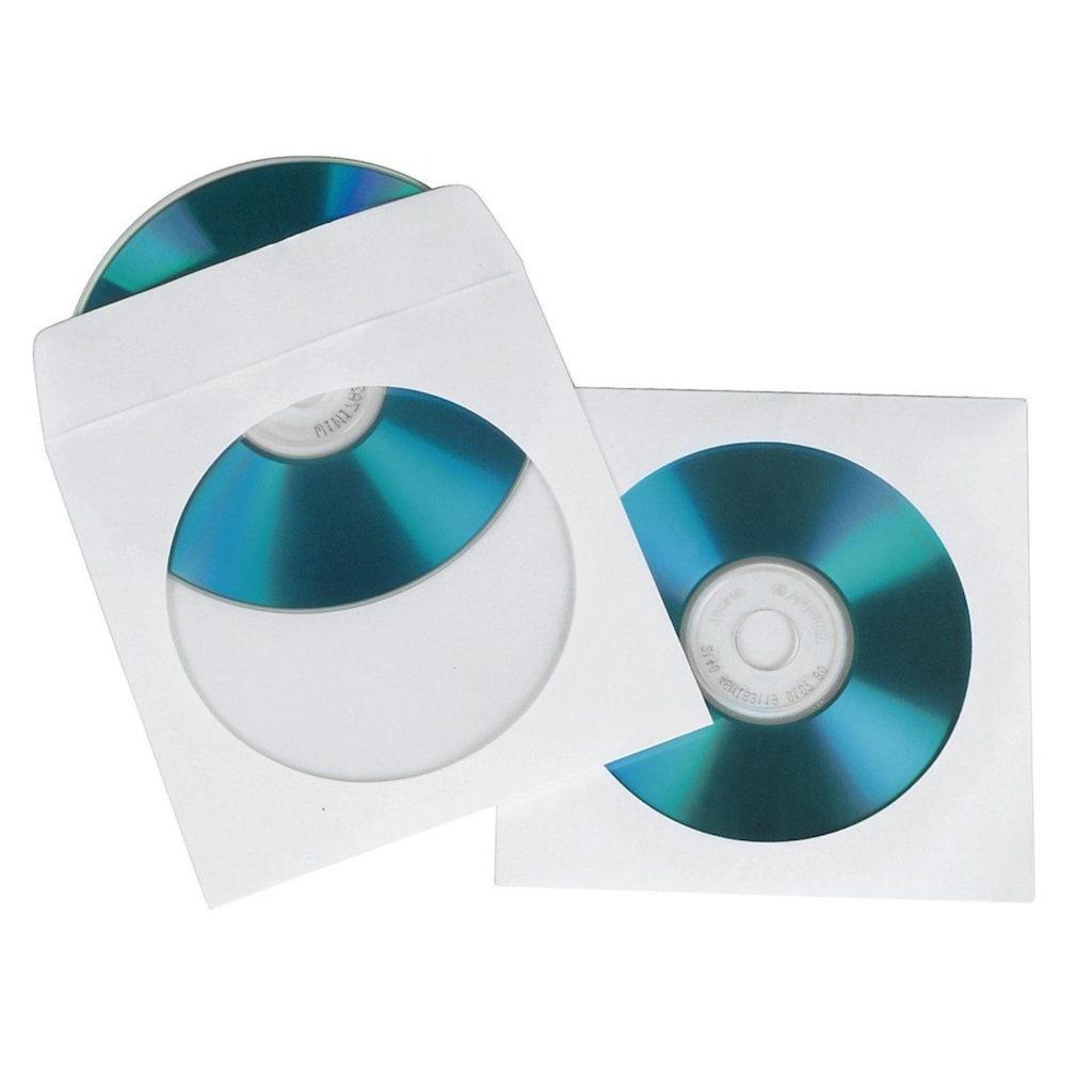 Hama DVD-Hülle, CD Sleeves, 100er-Pack, Weiß