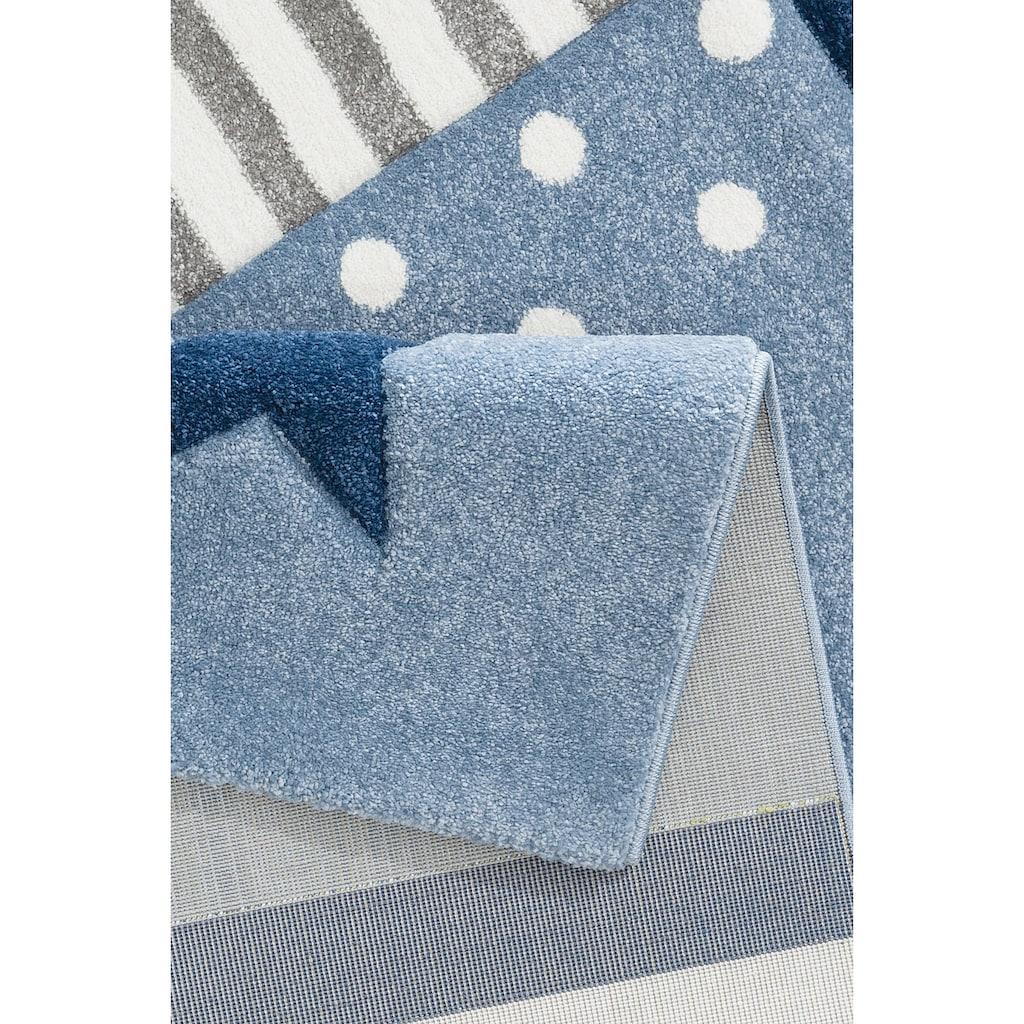 Lüttenhütt Kinderteppich »Stern«, rechteckig, 13 mm Höhe, handgearbeiteter Konturenschnitt