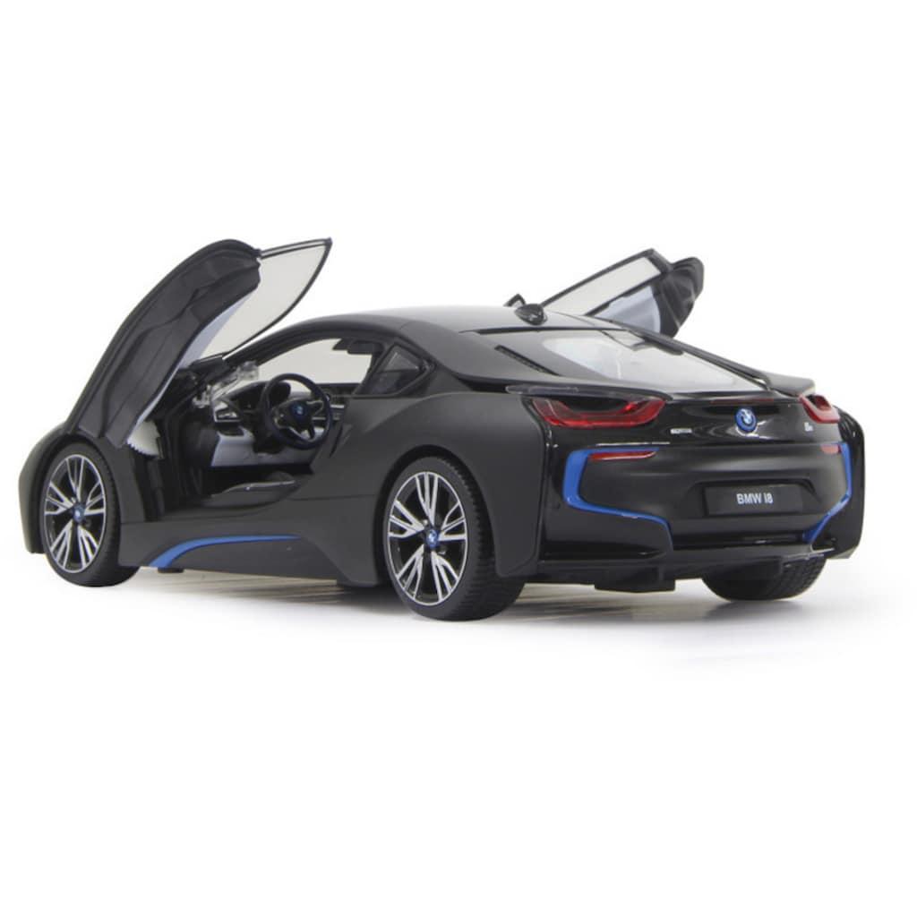 Jamara RC-Auto »BMW i8 40MHz 1:14 schwarz«, mit LED Beleuchtung