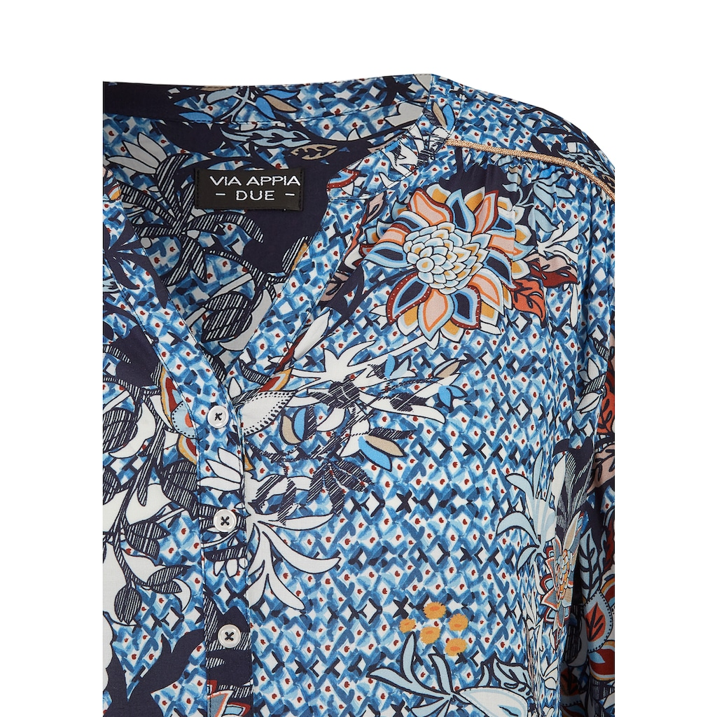 VIA APPIA DUE Leichte Bluse mit Allover-Print Plus Size