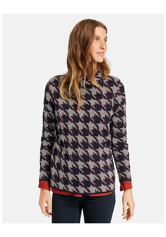GERRY WEBER Rundhalspullover »Pullover mit Hahnentrittmuster« kaufen