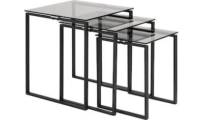 andas Satztisch »Karolina«, (3 St.), mit einer Rauchglasplatten und einem schönen... kaufen