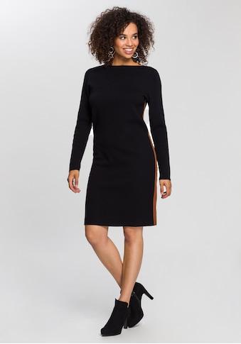 GERRY WEBER Strickkleid, mit seitlichem, kontrastfarbenem Zierstreifen kaufen