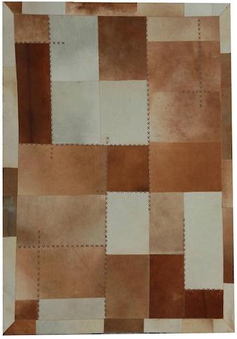 Kayoom Fellteppich »Mystic 110«, rechteckig, 8 mm Höhe, echtes Rinderfell, Wohnzimmer kaufen