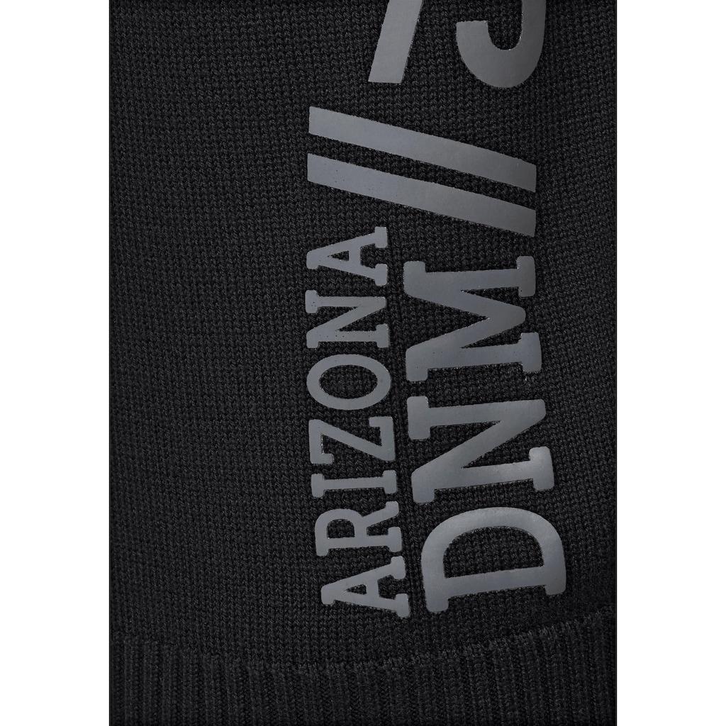 Arizona Rundhalspullover, mit seitlichem Print