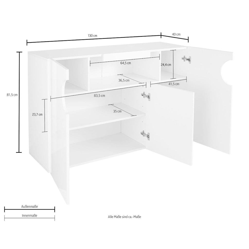 Tecnos Sideboard »Real«, Breite 130 cm
