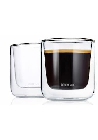 BLOMUS Thermoglas »NERO«, (Set, 2 tlg.), Doppelwandig, Inhalt 200 ml kaufen