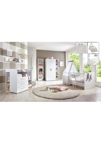 BMG Babyzimmer-Komplettset »Luis«, (Set, 11 St.), Bett + Wickelkommode + 2-trg.... kaufen