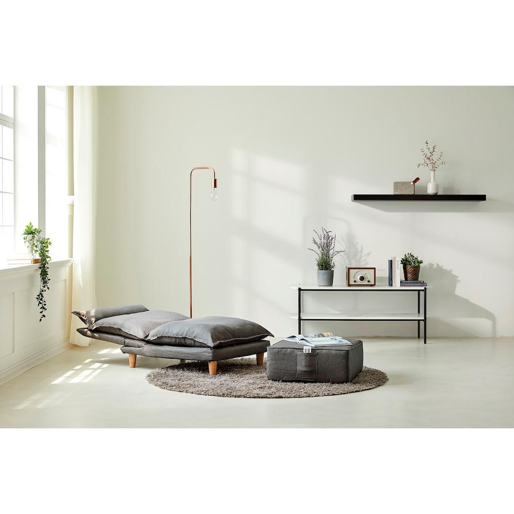 SalesFever Loungeset, (Set, 2 tlg., Sessel mit Hocker), mit Liegefunktion, Relaxsessel, Loungesessel