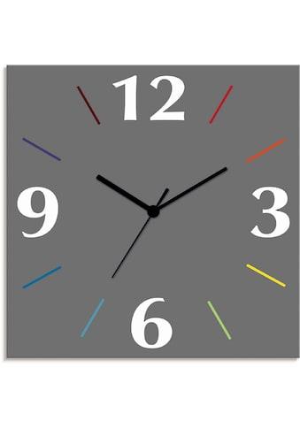 Artland Wanduhr »Uni Trendfarben«, lautlos, ohne Tickgeräusche, nicht tickend,... kaufen