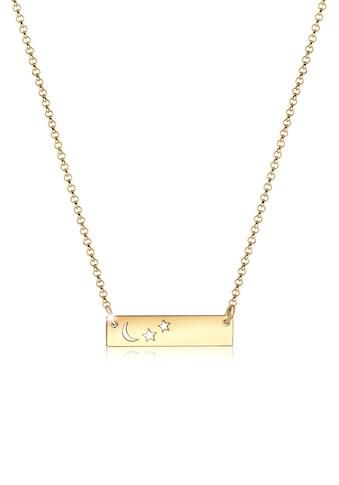 Elli Kette mit Anhänger »Halbmond Sterne Astro 925 Sterling Silber« kaufen