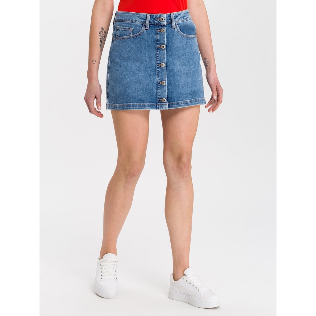 Cross Jeans® Jeansrock »Tracy«, Angenehme Denimqualität