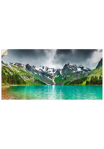 Artland Wandbild »Bergsee«, Berge, (1 St.), in vielen Größen & Produktarten - Alubild... kaufen