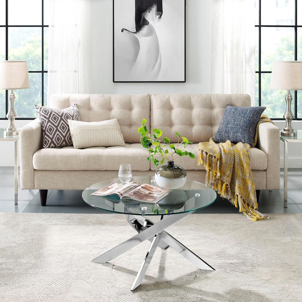 Leonique Couchtisch »Luzie«, in modernem Design, Glastisch