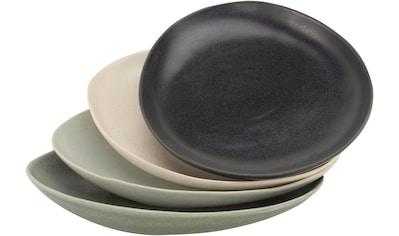 CreaTable Servierplatte »Pietra«, (Set, 4 tlg.), jedes Stück ein Unikat kaufen