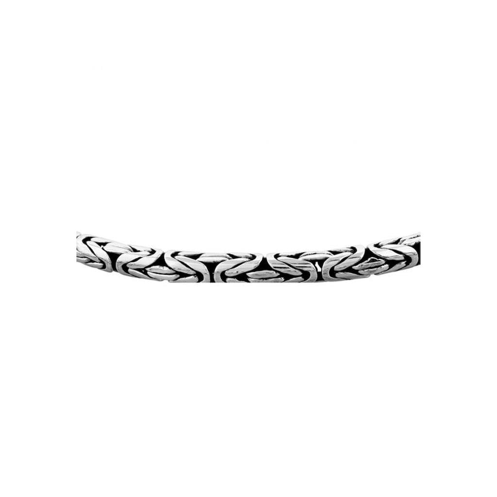 Kuzzoi Silberkette »Herren Glieder Königskette Oxidiert 925 Silber«