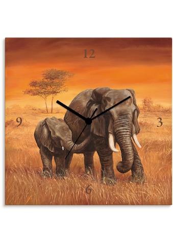 Artland Wanduhr »Elefanten«, lautlos, ohne Tickgeräusche, nicht tickend, geräuschlos -... kaufen