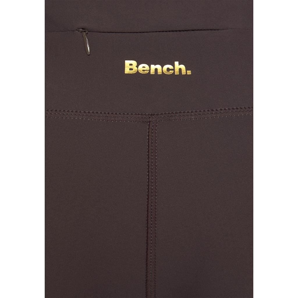 Bench. Leggings, mit Leodruck und Mesh-Einsatz