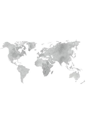Wall-Art Wandtattoo »5 Bilderrahmen Weltkarte Grau« kaufen