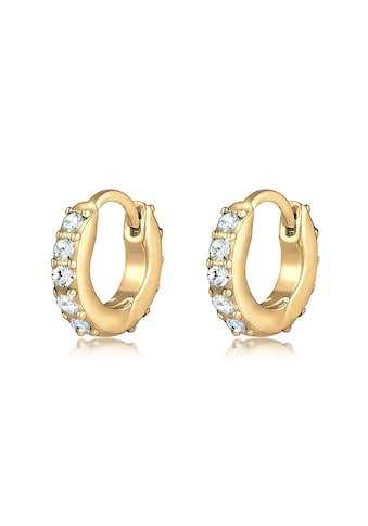 Elli Paar Creolen »Creolen Swarovski® Kristalle 925 Silber« kaufen