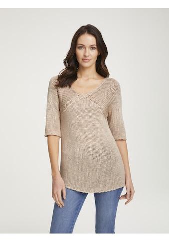 LINEA TESINI by Heine V-Ausschnitt-Pullover, mit Rückenausschnitt kaufen